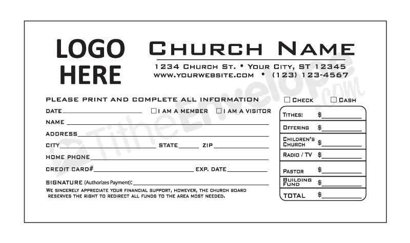 Tithe Envelope Template  BesikEightyCo