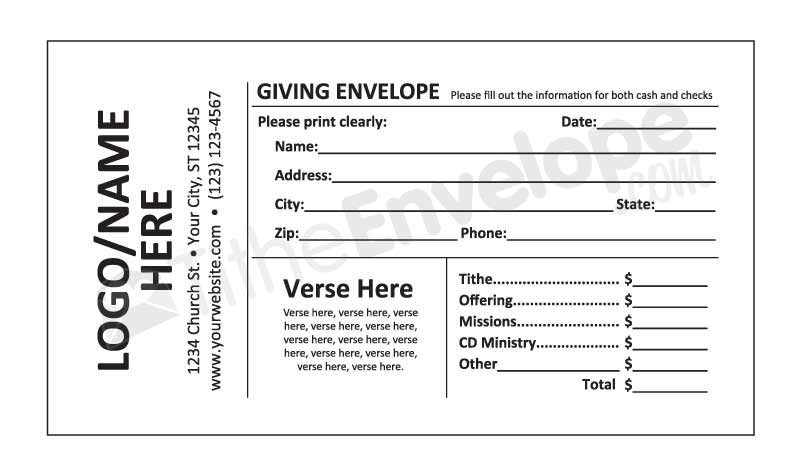 Remittance envelopes donation envelope and offering for Fundraising envelope template