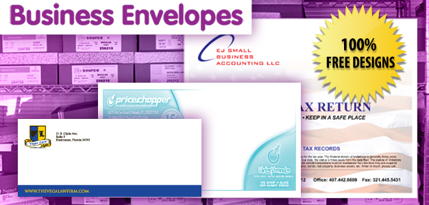 business envelopes banner