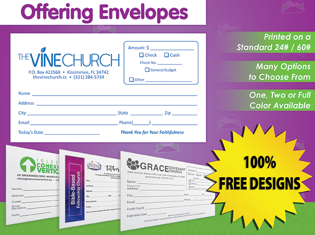 Offering Envelopes Banner