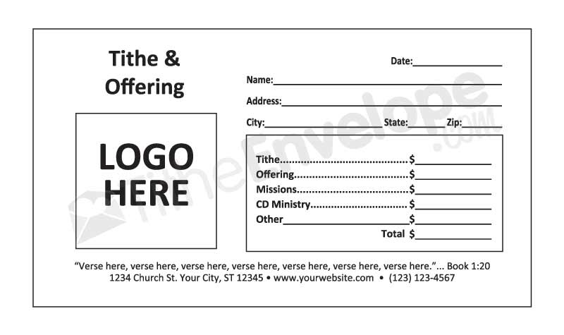 Offering Envelope Template